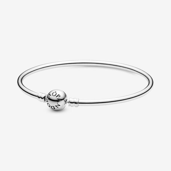 sneakers for cheap official images lowest price Sterling Silver Bangle Bracelet | Pandora US