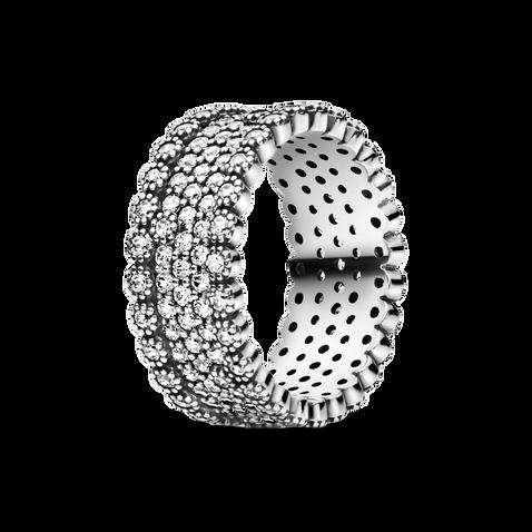 Sparkling Pavé Band Ring