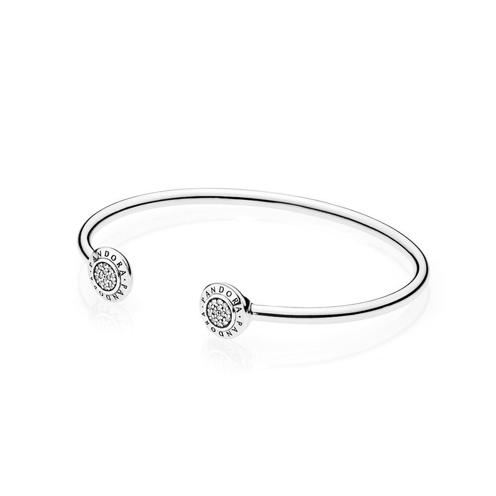 bangle bezel sea set bangal glass bracelets silver sterling bracelet