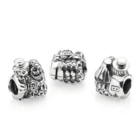 Mr. & Mrs. Charm, Sterling silver - PANDORA - #791116