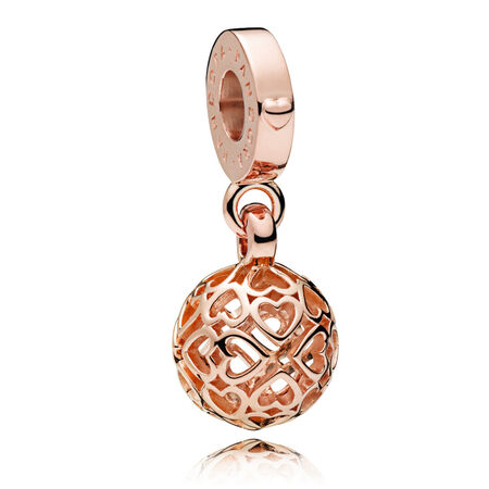 Harmonious Hearts Dangle Charm, PANDORA Rose™, PANDORA Rose - PANDORA - #787255