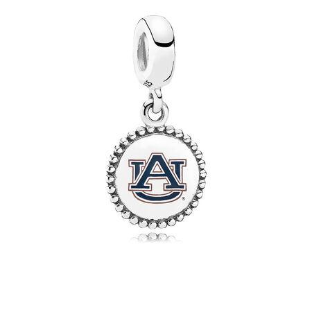 Auburn University Dangle Charm, Orange & Blue Enamel