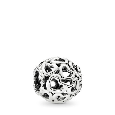 59df1524e Hearts All Over Charm, Sterling silver - PANDORA - #790964
