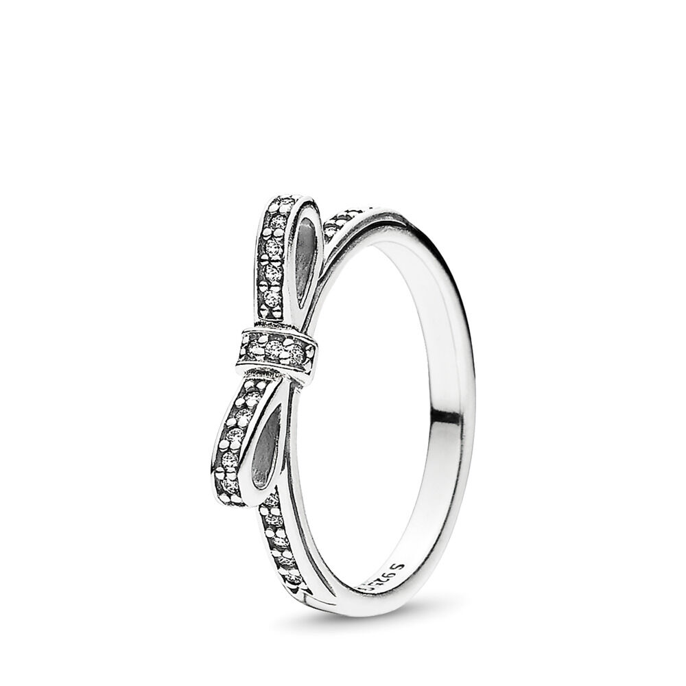 Sparkling Bow Ring In Sterling Silver Pandora Jewelry Us