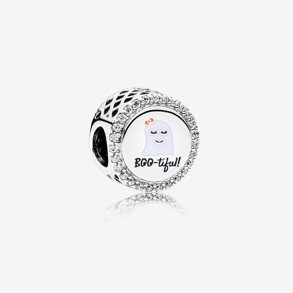 Bootiful Charm, Mixed Enamel & Clear Cz by Pandora