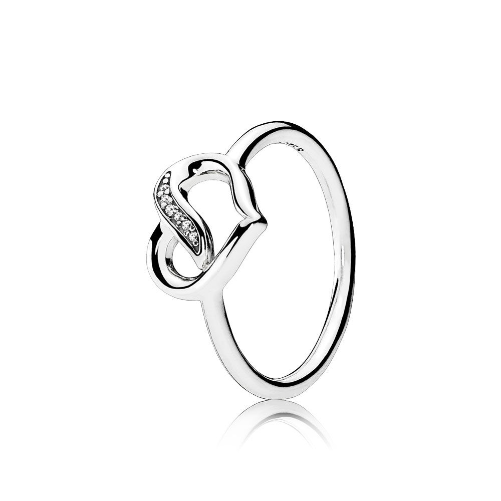 Ribbons of Love Ring, Clear CZ | PANDORA Jewelry US