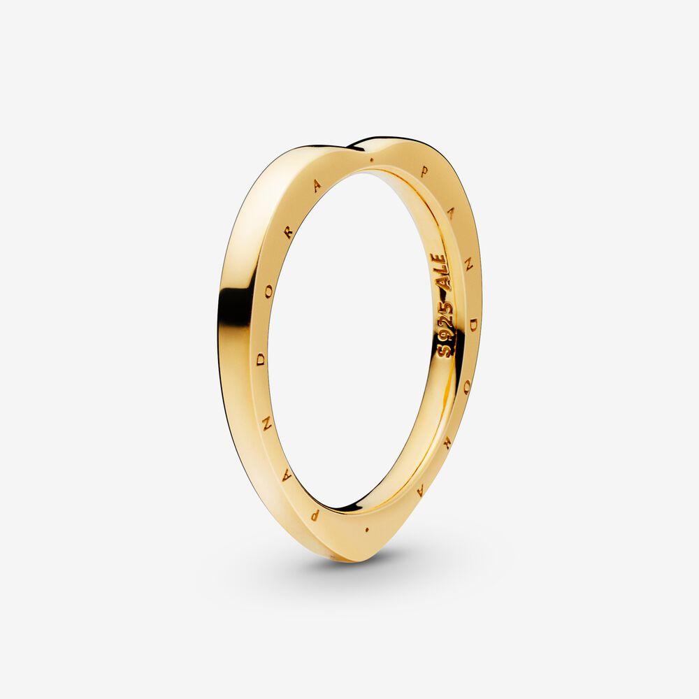 Heart-Shaped Pandora Logo Ring