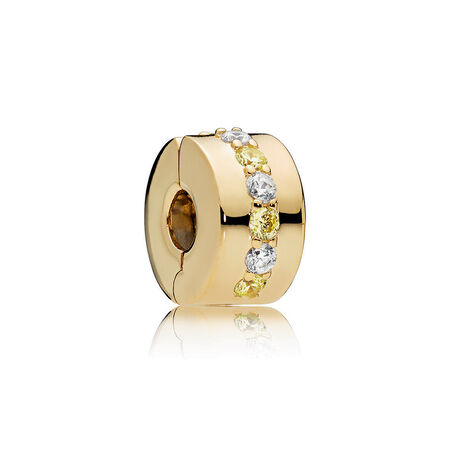 Shining Path Clip, PANDORA Shine™ & Yellow & Clear CZ