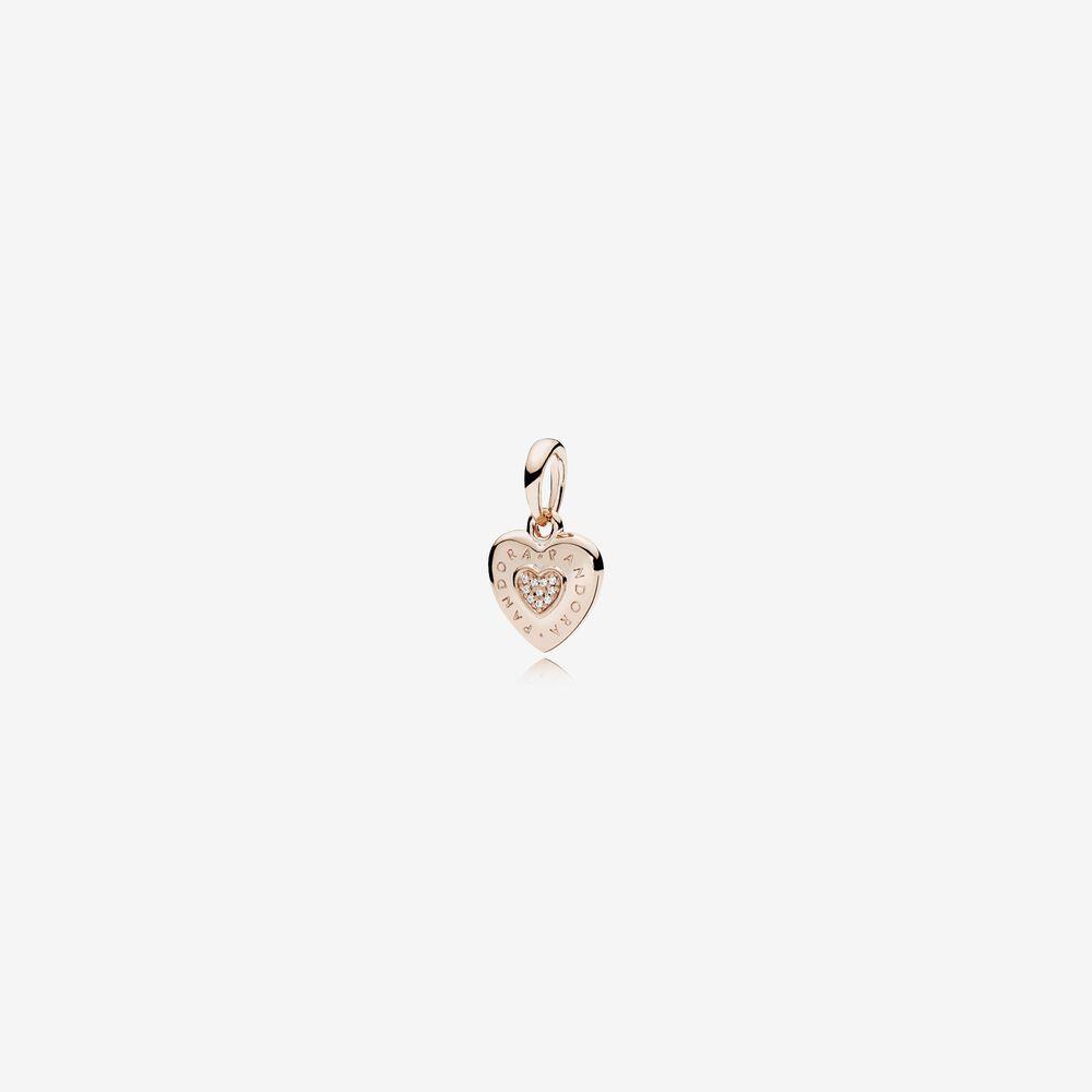 pandora rose gold heart charm bracelet