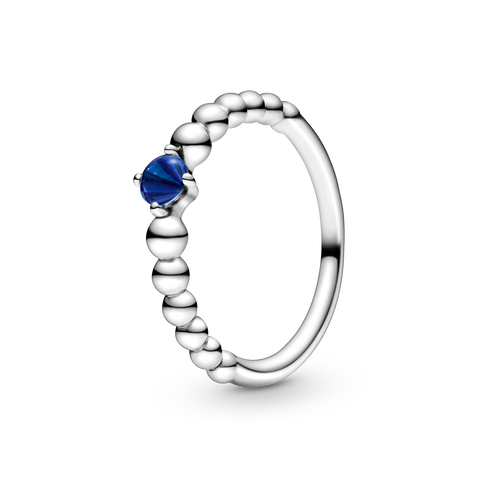 Sea Blue Beaded Ring
