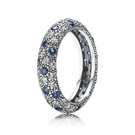 Cosmic Stars Ring, Blue Crystal & CZ