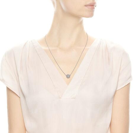 Vintage Allure Pendant Necklace, Clear CZ, Sterling silver, Cubic Zirconia - PANDORA - #590523CZ