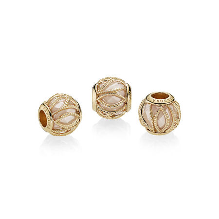 Intertwining Radiance Charm, PANDORA Shine™ & Golden Colored CZ
