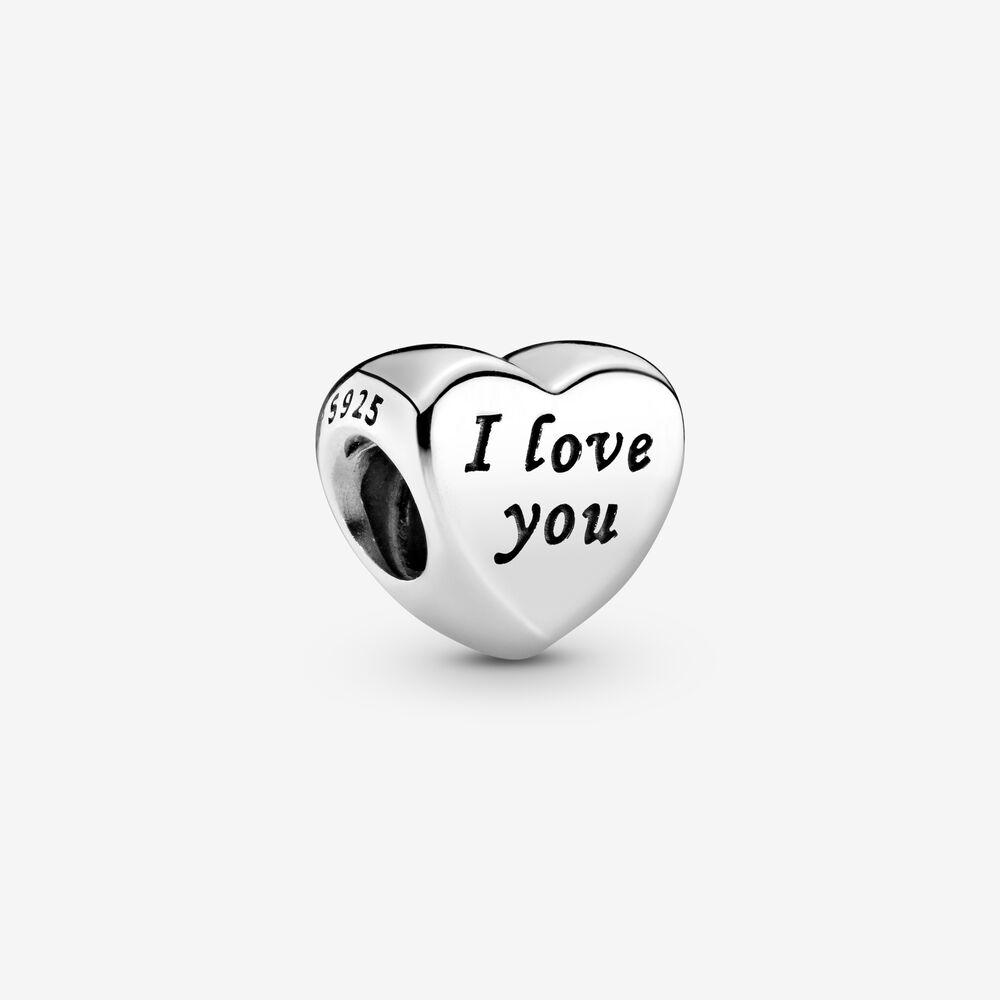 Polished I Love You Heart Charm