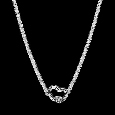 Asymmetrical Heart Necklace