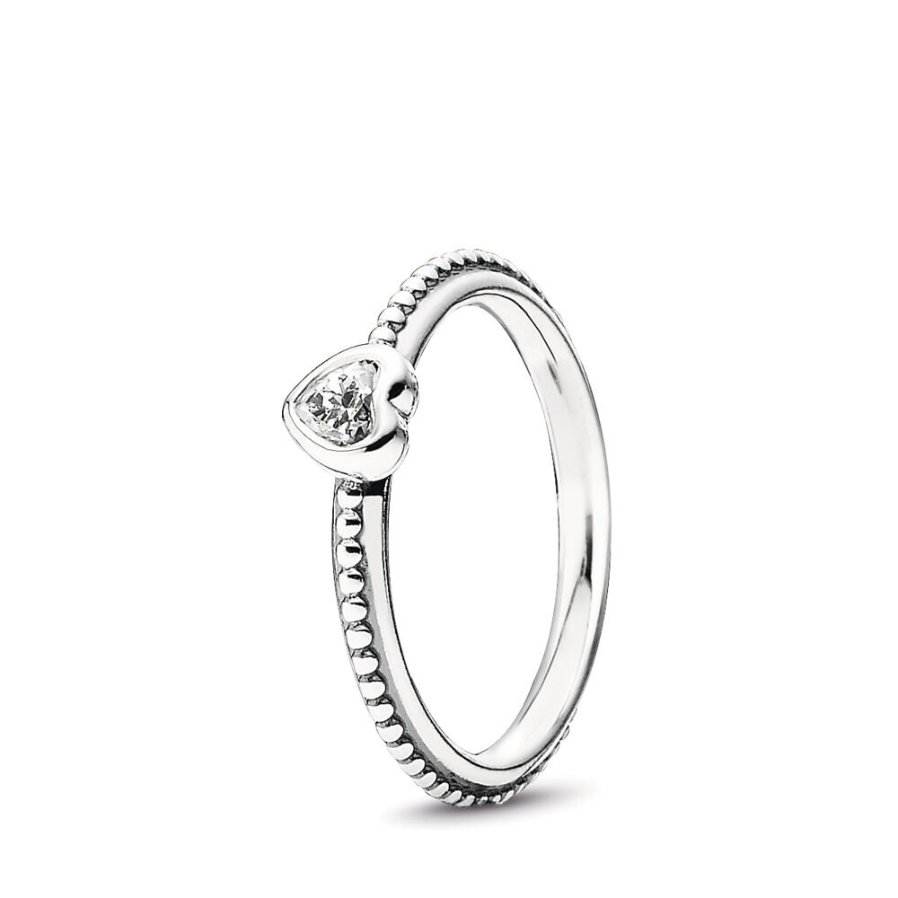 150601b5a One Love Ring, Clear CZ, Sterling silver, Cubic Zirconia - PANDORA - #