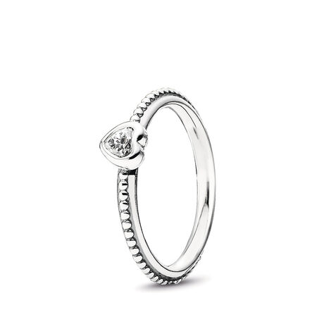 857aaabd4 One Love Ring, Clear CZ Sterling silver, Cubic Zirconia