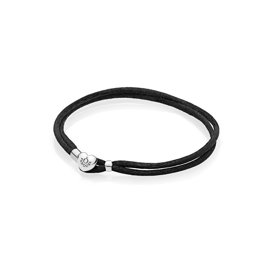 Fabric Cord Bracelet Black Pandora Jewelry Us