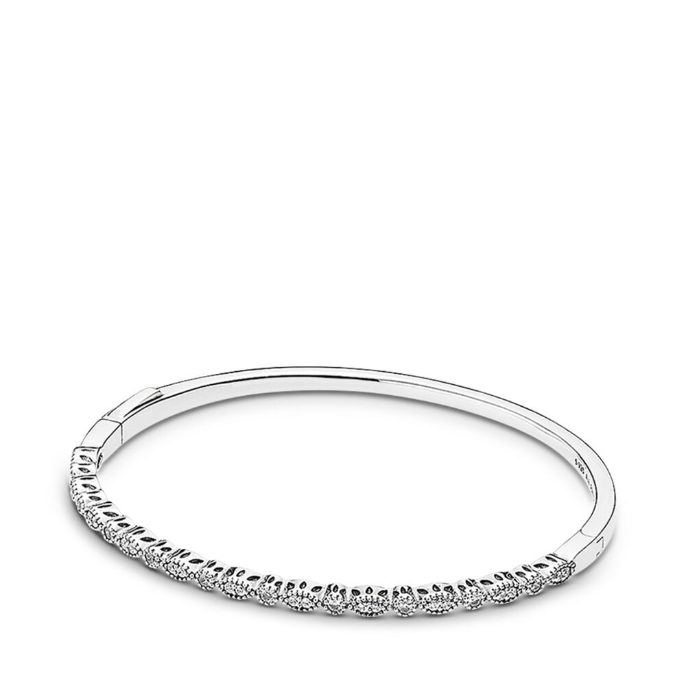 f3f986058 Timeless Elegance Bangle, Clear CZ, Sterling silver, Cubic Zirconia -  PANDORA - #