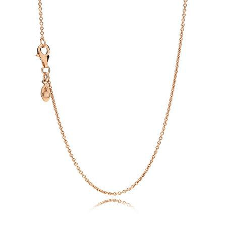Necklace Chain, Sterling Silver & 14K Rose Gold