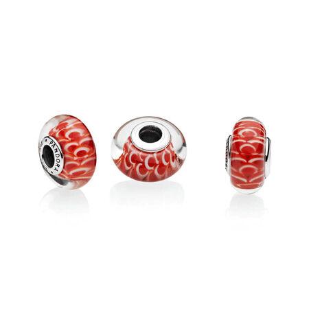 Asian Koinobori Charm, Murano Glass
