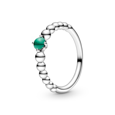 May Rainforest Green Beaded Ring