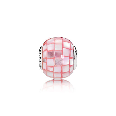 COMPASSION Charm, Pink Mother-of-Pearl Mosaic