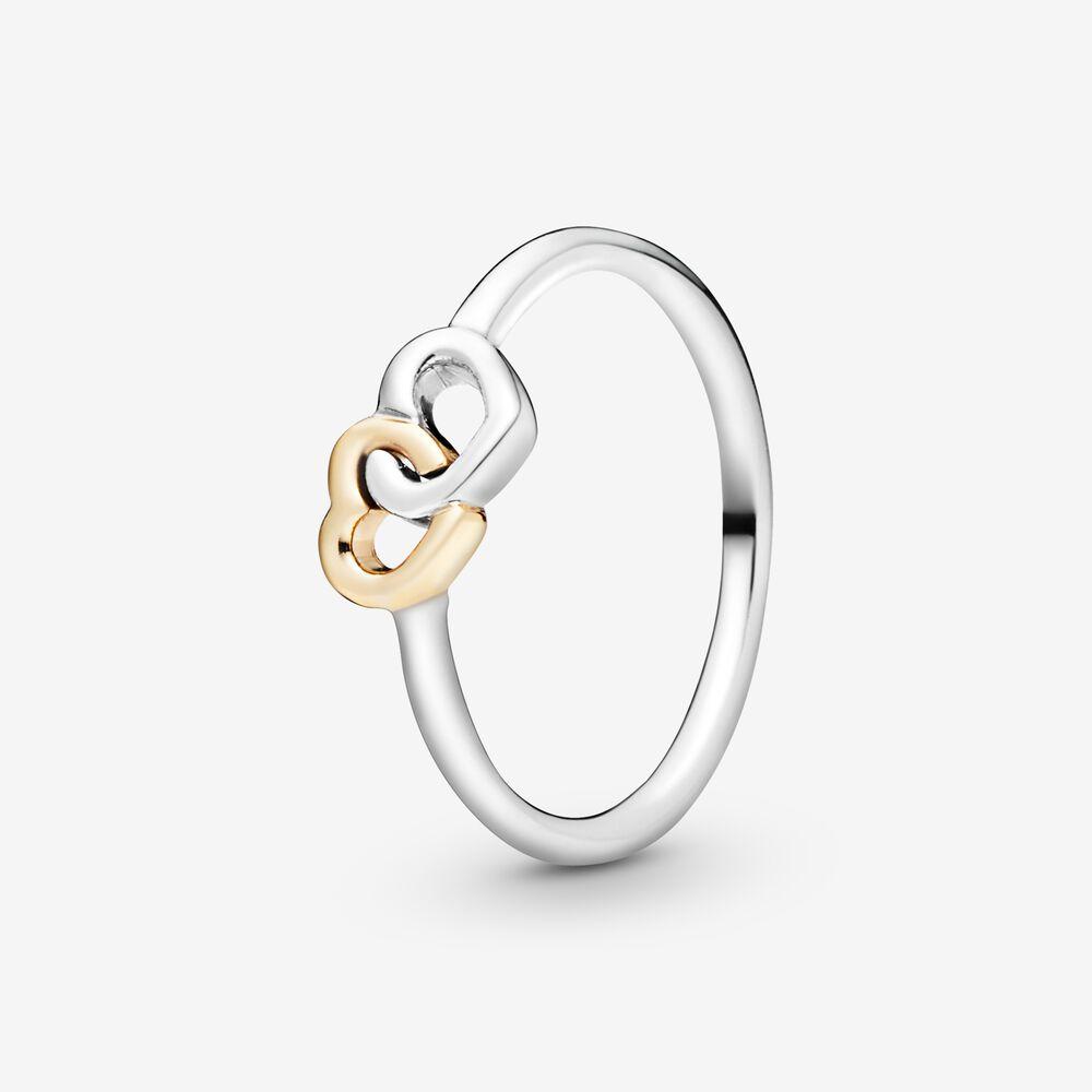 Interlocked Hearts Ring