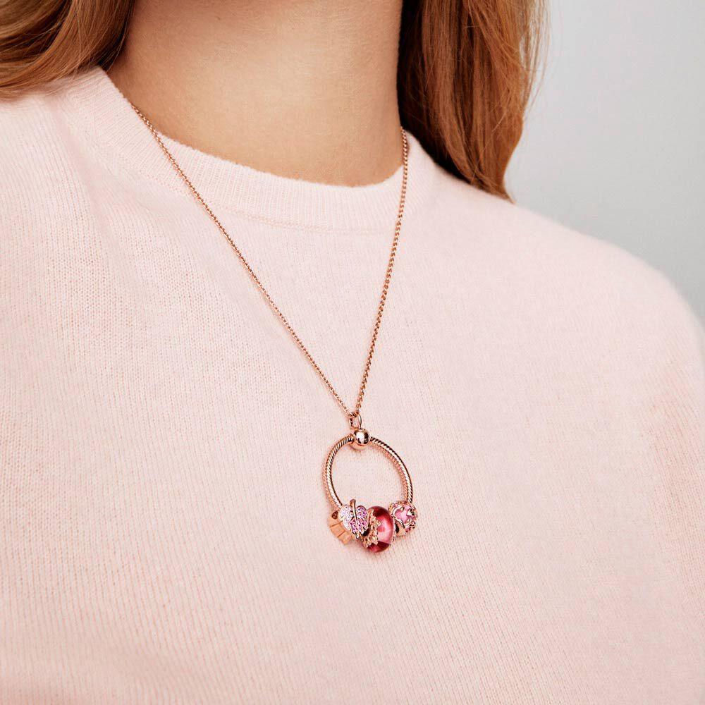 Pandora Moments Medium O Pendant | Rose gold plated | Pandora US