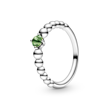 August Spring Green Beaded Ring