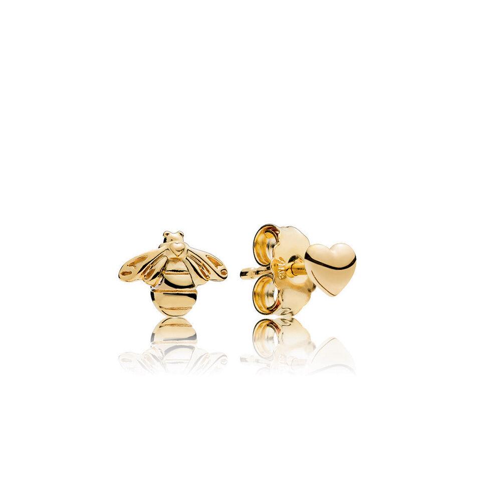 Heart Amp Bee Stud Earrings Pandora Shine Pandora Jewelry Us