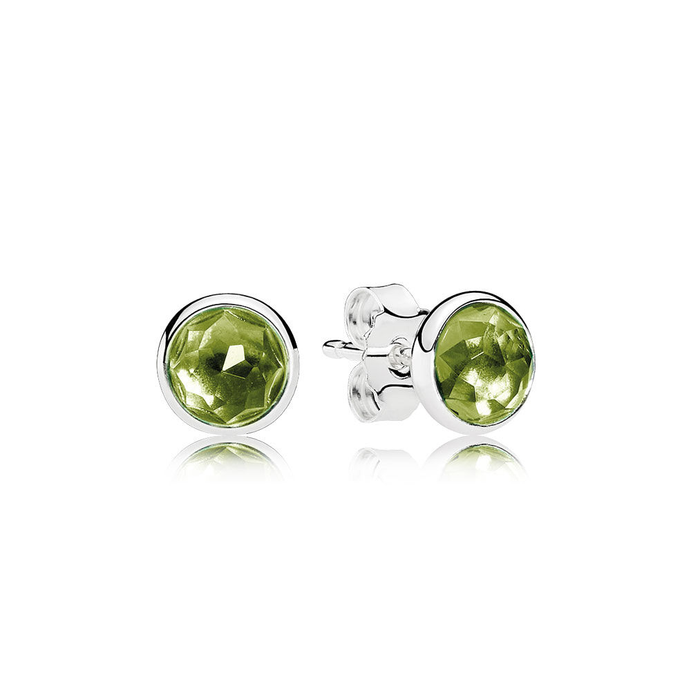 erok products natural designs ps dsc solid peridot stud earrings gold