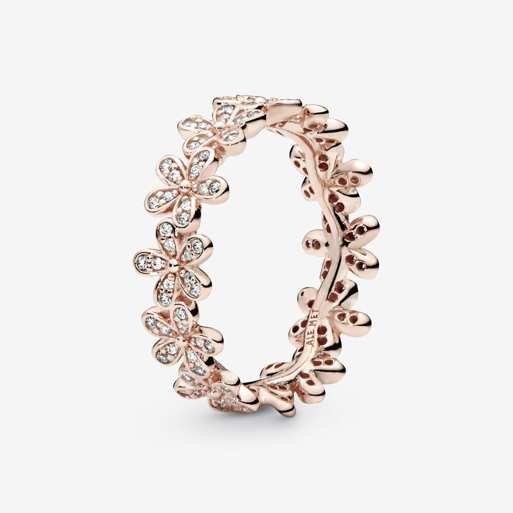 Dazzling Daisy Ring in Pandora Rose™ & Clear CZ   Rose gold plated ...