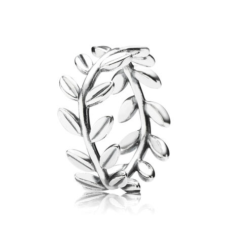 Anillo de hojas en plata esterlina 925