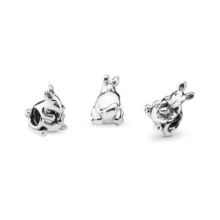 Kangaroo & Baby Charm, Sterling silver - PANDORA - #791910