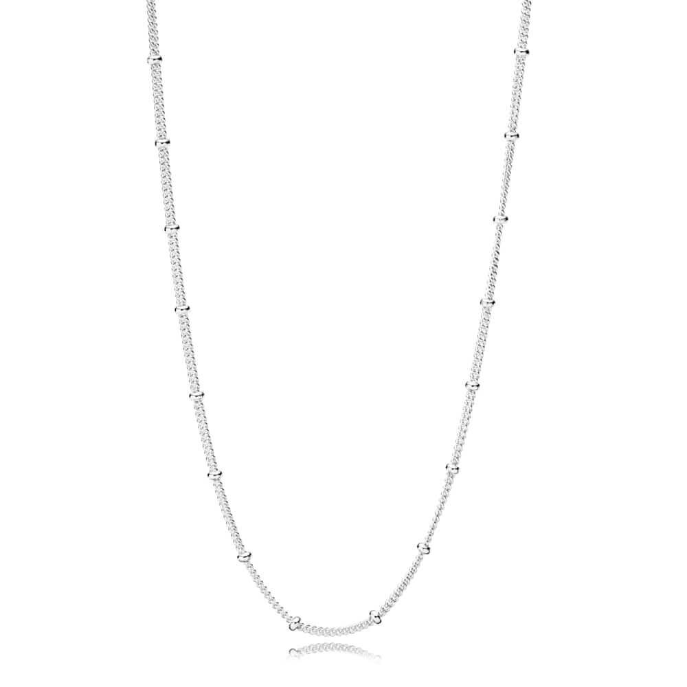 Silver Beaded Necklace Chain Pandora Jewelry Us