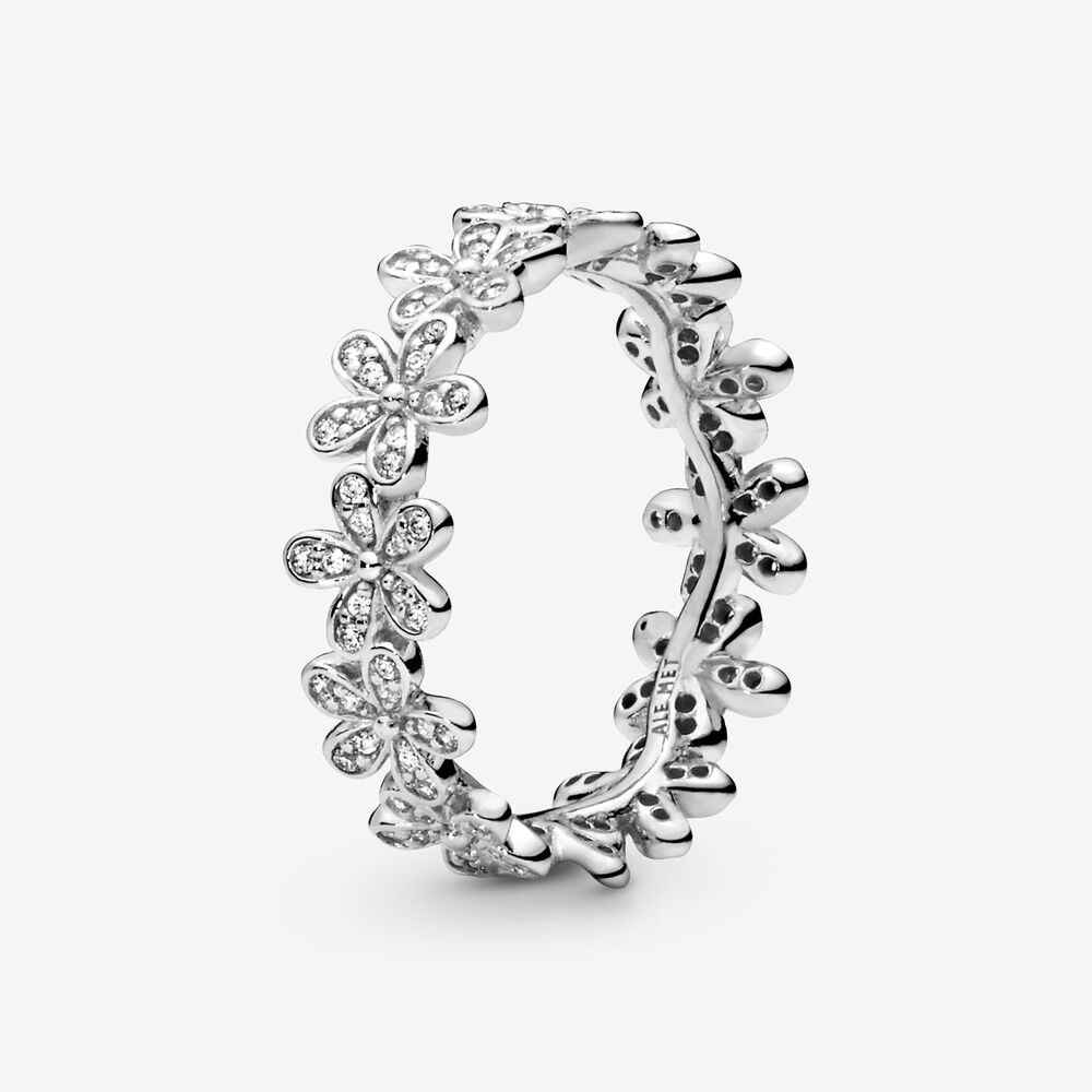 Dazzling Daisy Meadow Stackable Ring with Clear CZ | Sterling ...