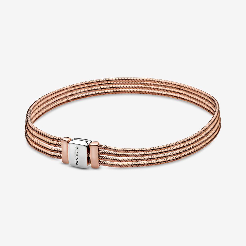 Pandora Reflexions™ Multi Snake Chain Bracelet | Two-tone | Pandora US