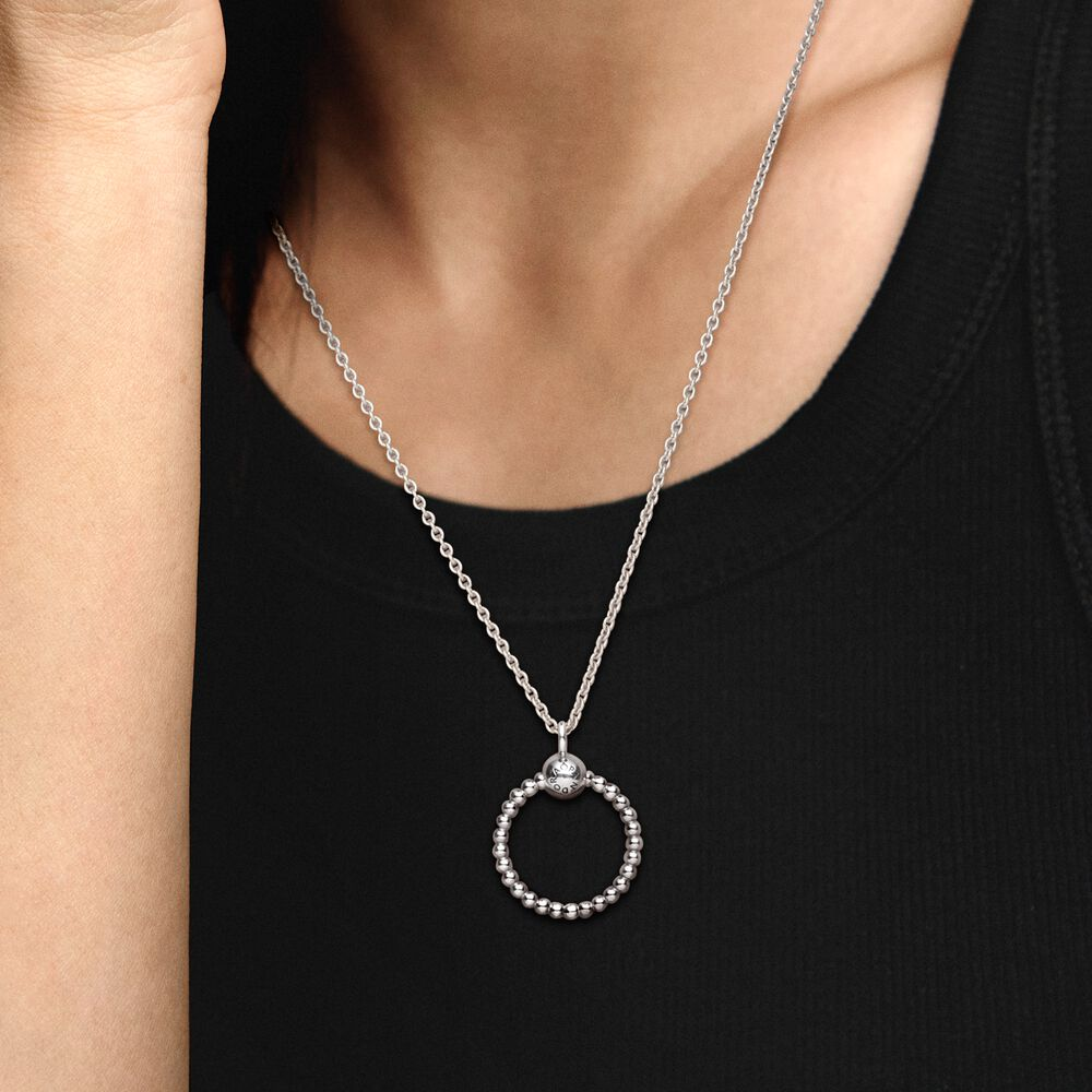 Pandora Moments Small Beaded O Pendant - FINAL SALE | Sterling ...