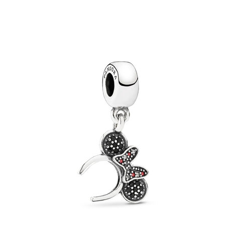 Disney, Minnie Headband Dangle Charm, Black & Red CZ