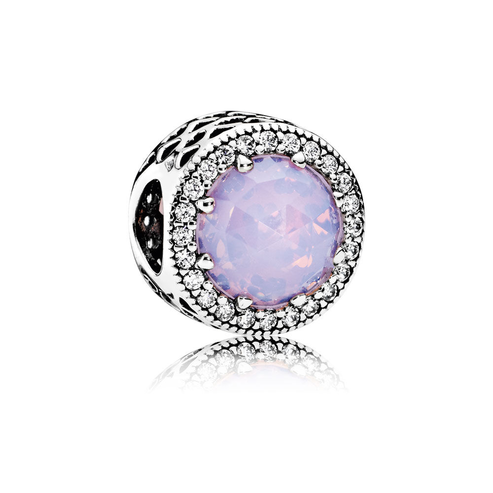 87a9e492a ... PANDORA - 781725CZ Radiant Hearts Charm, Opalescent Pink Crystal Clear  CZ ...