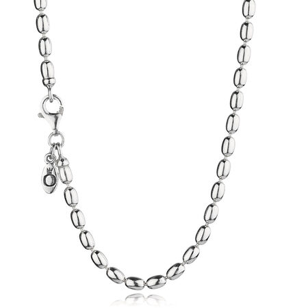 Sterling Silver Ball Chain Necklace, Sterling silver - PANDORA - #590143