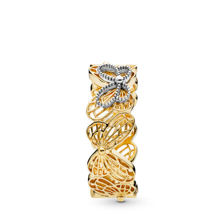 Openwork Butterflies Ring, Pandora Shine™, PANDORA Shine and sterling silver - PANDORA - #167947