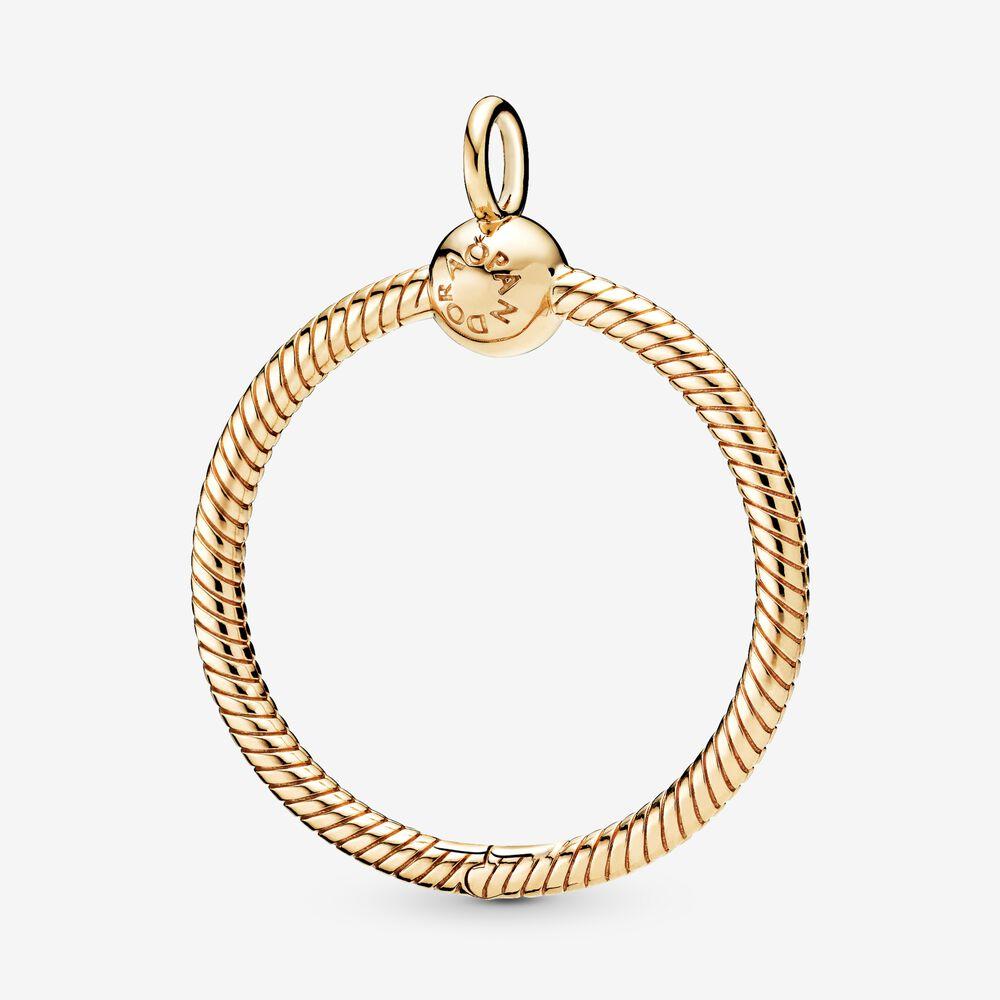 Pandora Moments Medium O Pendant | Gold plated | Pandora US