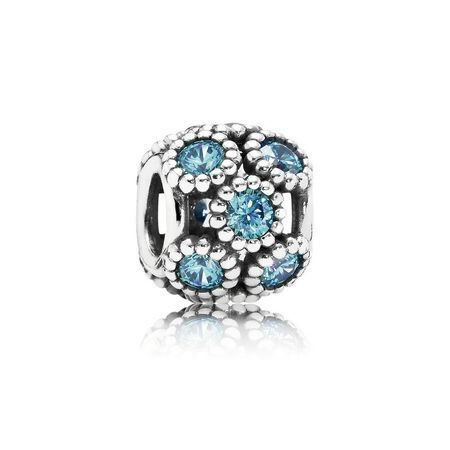 Studded Lights Charm, Teal CZ