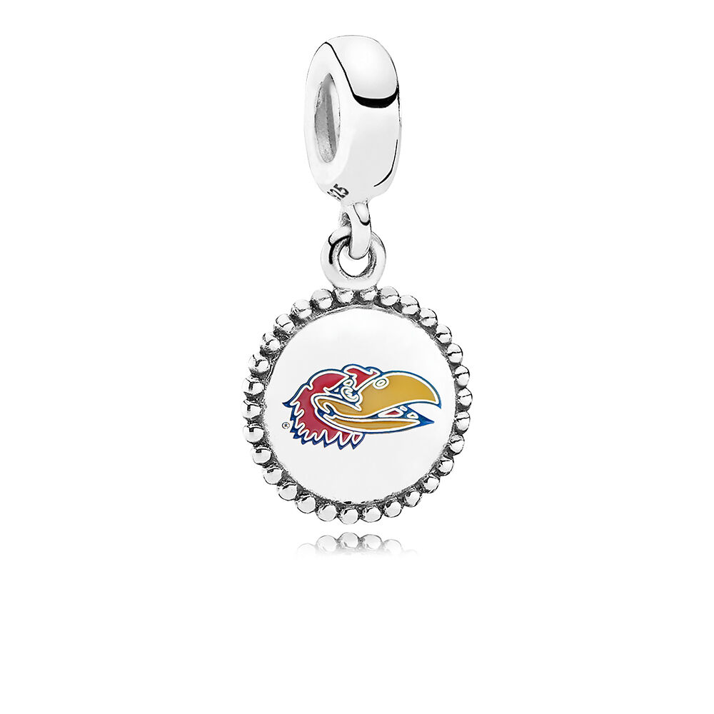 Pandora Jewelry Kansas City: University Of Kansas Dangle Charm, Mixed Enamel