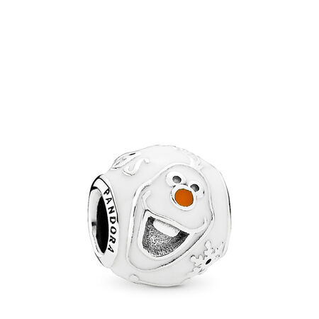 Disney, Olaf Charm, Mixed Enamel, Sterling silver, Enamel, Orange - PANDORA - #791794ENMX