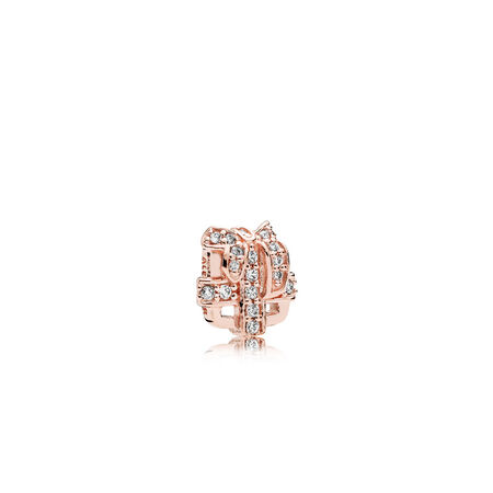All Wrapped Up Petite Charm, PANDORA Rose™ & Clear CZ