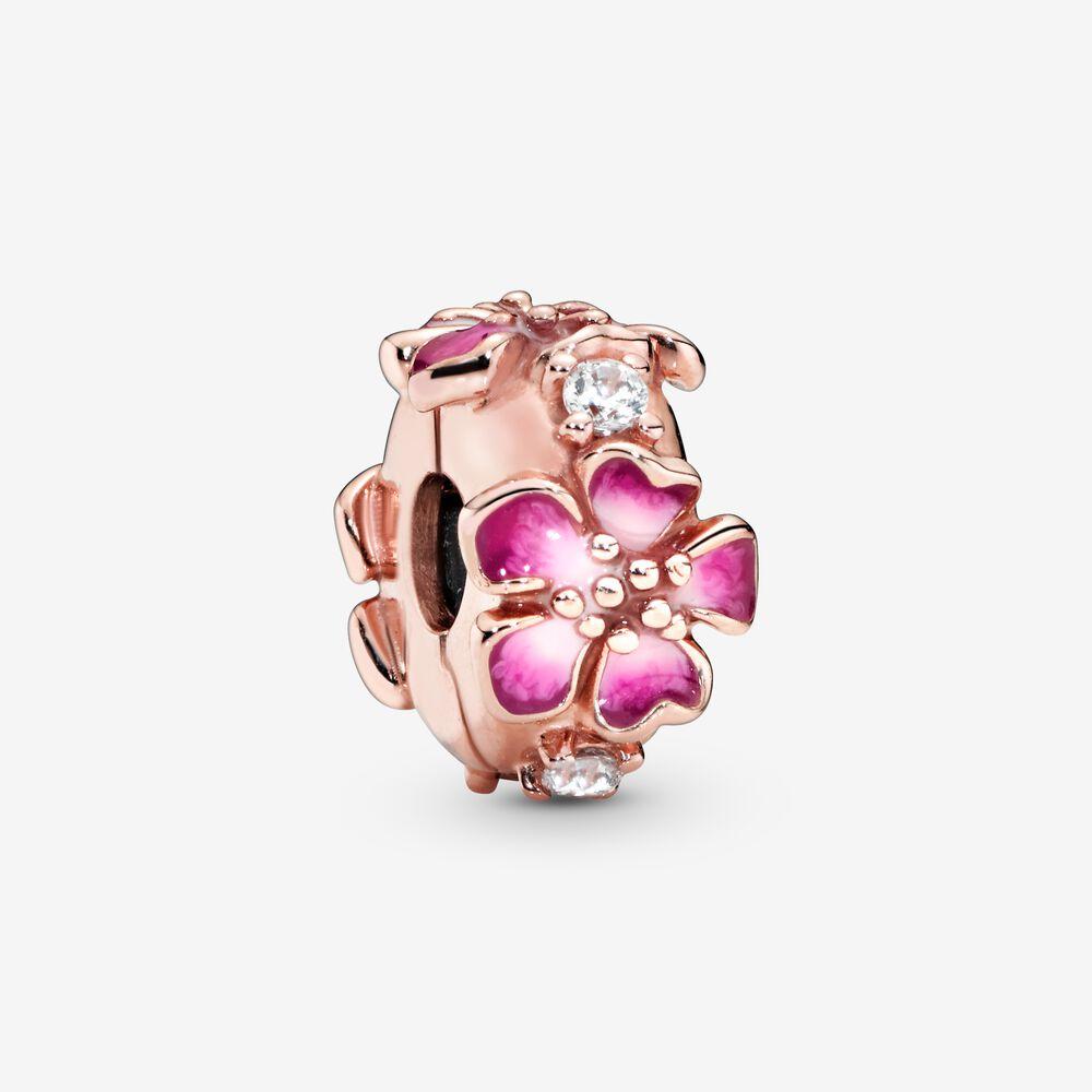 Peach Blossom Flower Clip Charm