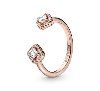 Pandora Rose open ring with clear cubic zirconia